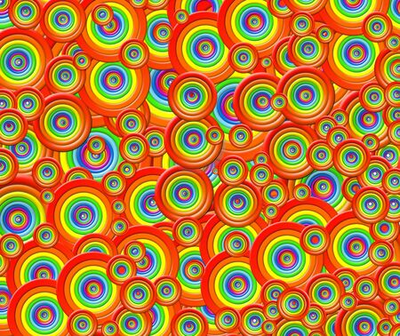 Colorful rings of all colors of rainbow. Color abstract circles. Illustration with color of LGBT symbols