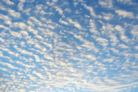 Beautiful white clouds on blue sky. White clouds on summer sky. Celestial panorama. Sky landscape with clouds