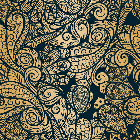 vector seamless paisley background Vector