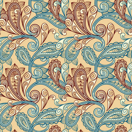 indian pattern: vector seamless paisley background