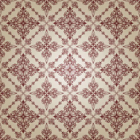 scroll tracery: vector  vintage seamless pattern