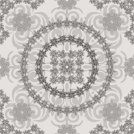 tracery: vector seamless vintage floral retro pattern, elements can be used separately, clipping masks Illustration