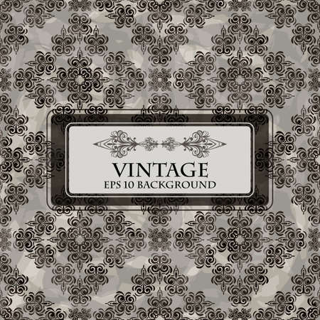 vector seamless grungy floral vintage background with place for your text Vector