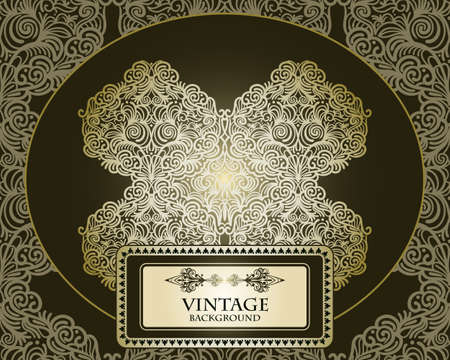 vector abstract  floral pattern, vintage,  place for your text, seamless at the background Vector