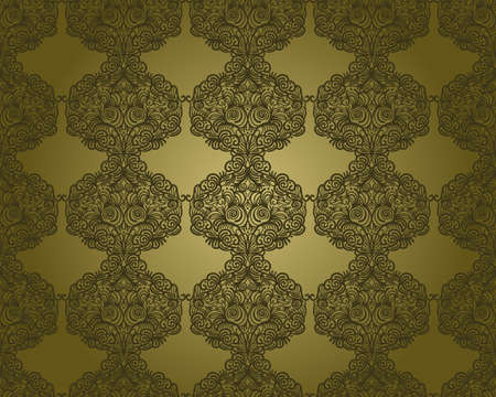 vector abstract seamless floral pattern, vintage Stock Vector - 11270767