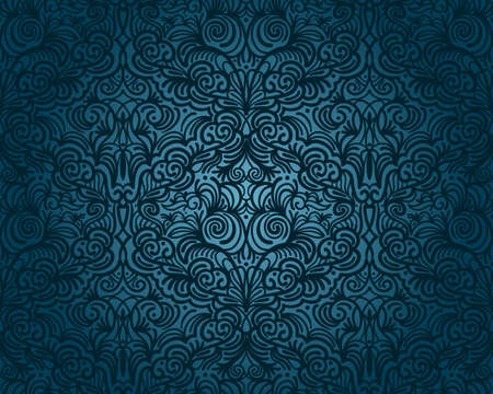 vector abstract seamless floral pattern, vintage Vector