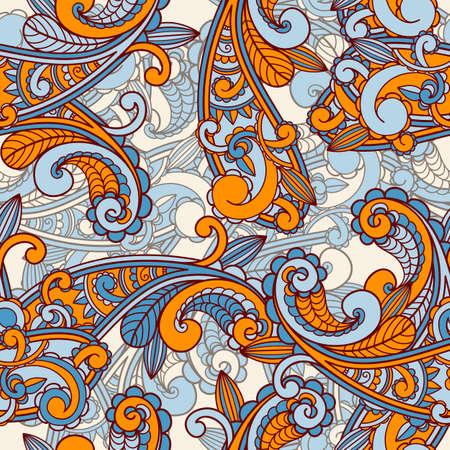 indien muster: Nahtlose Paisley-Muster Illustration