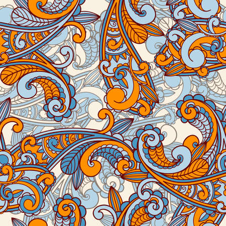 henna pattern: Seamless paisley pattern  Illustration