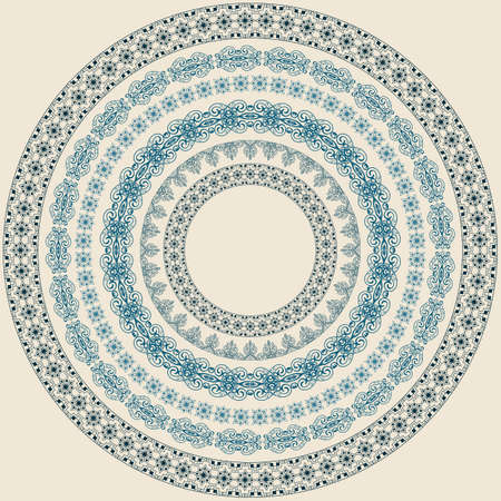 scroll tracery: Vintage circle pattern, brushes included