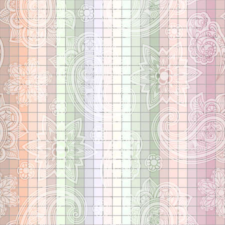 seamless  paisley tile pattern Vector