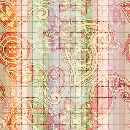 seamless tile  paisley pattern Illustration