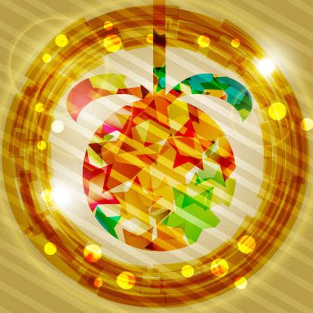 christmas ball with shiny stars Stock Vector - 11558178
