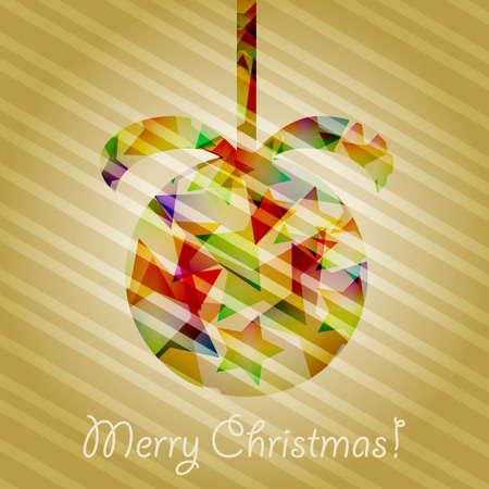 christmas tree ball with shiny stars Stock Vector - 11558180