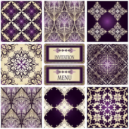 east indians: eight seamless patterns and frame for your text