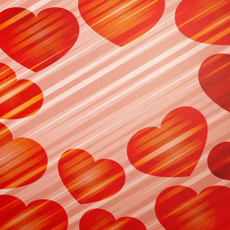 eps 10, vector background with bright hearts Vector