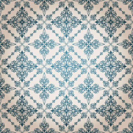 vector seamless vintage floral pattern Stock Vector - 11814994