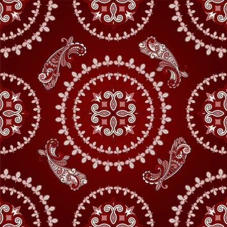 vector seamless paisley pattern in green Vector