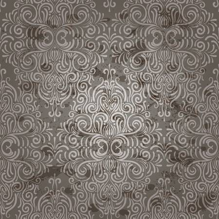 eps10, vector seamless vintage wallpaper with seamless floral pattern Vector