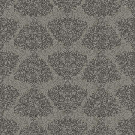 scroll tracery: vector seamless retro pattern Illustration
