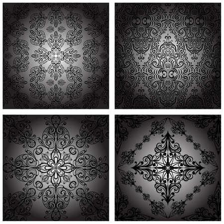 de vecteur de millésime transparente monochrome retro patterns