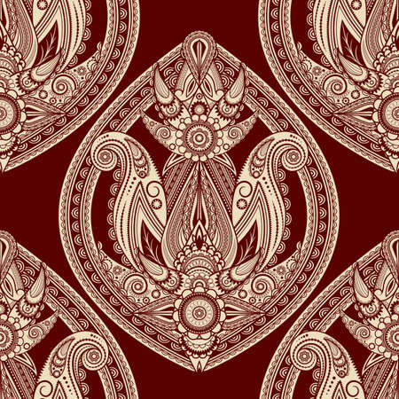 vector seamless eastern style paisley background Illustration