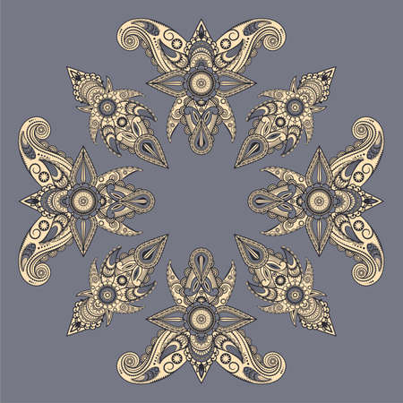 vector  eastern style paisley pattern Vector