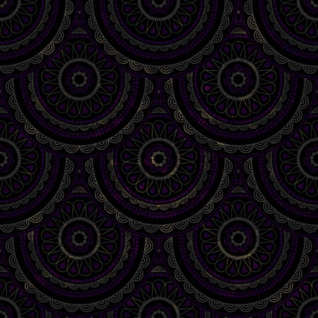 seamless grungy background with eastern circle pattern Vector