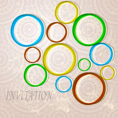 invitation with  bright circles on eastern  seamless background  Stock Vector - 12005813