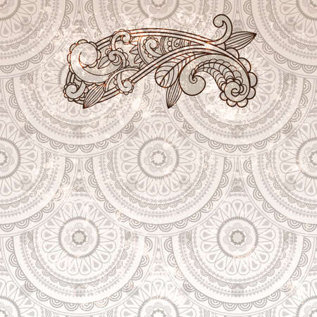 vector paisley element on seamless background  Vector