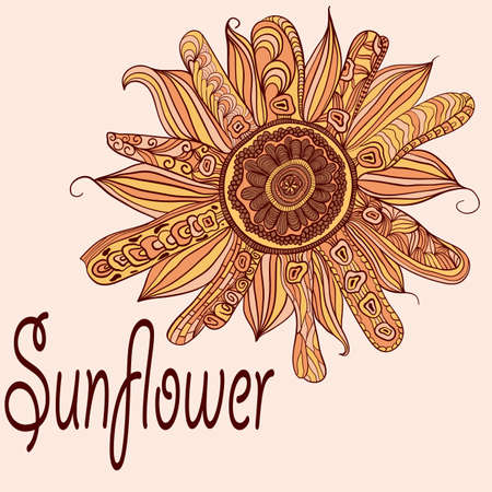 vector hand drawn sunflower Stock Vector - 12190786