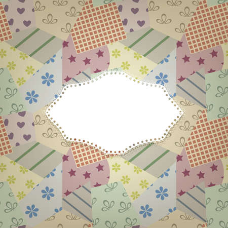 ine: vector seamless retro pattern and napkin for your text