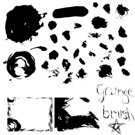 over 30 grunge brushes with examples  Vector