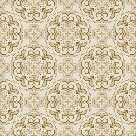 scroll tracery: vector seamless floral spring pattern Illustration