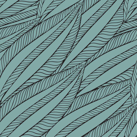 vector seamless pattern with funky leaves Vector