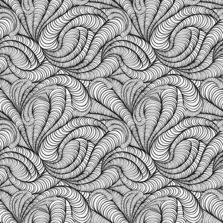 figuras abstractas: vector de fondo sin fisuras cobarde blanco y negro con figuras abstractas
