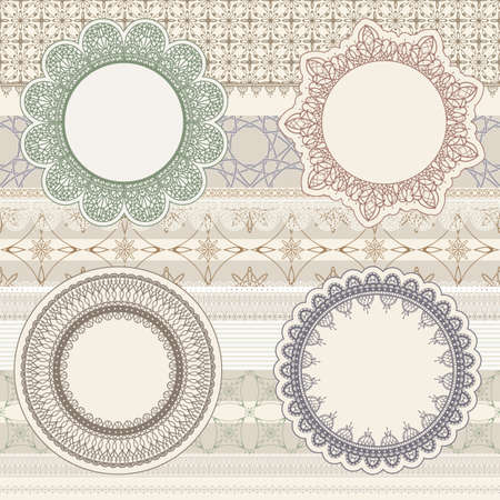 vector  lacy napkins on seamless pattern Stock Vector - 12990620
