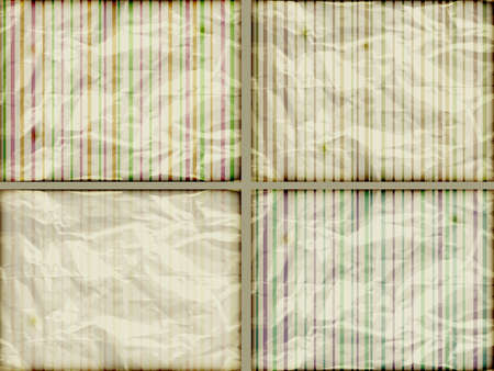 burning paper: vector set  striped backgrounds on crumpled burning paper