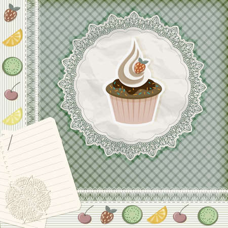temlate: invitation temlate with cupcake
