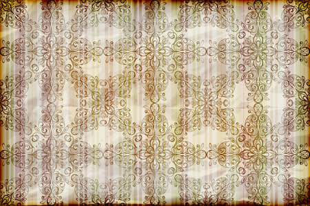 seamless floral wallpaper on striped background,  crumpled burning paper texture Vector