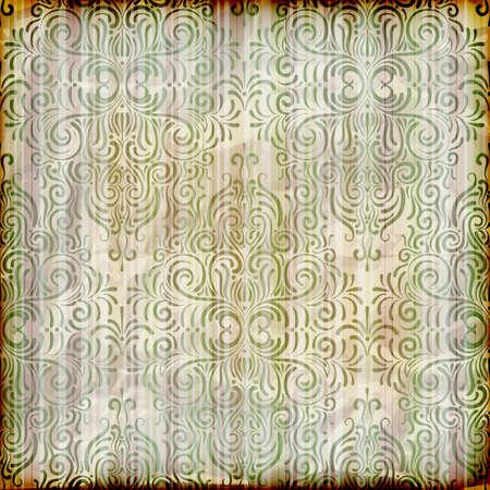burning paper: froral background Illustration