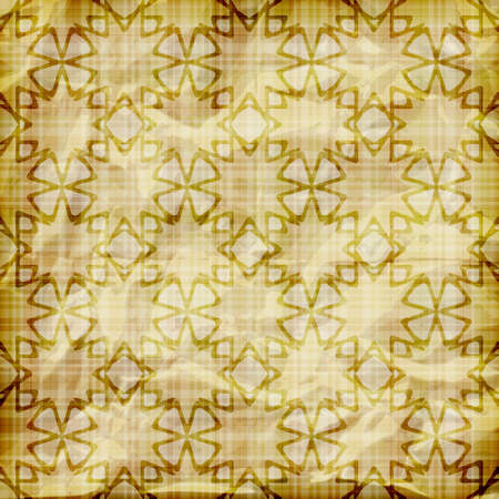 vector seamless abstract wallpaper on striped background,  crumpled burning paper texture, golden foil Vector