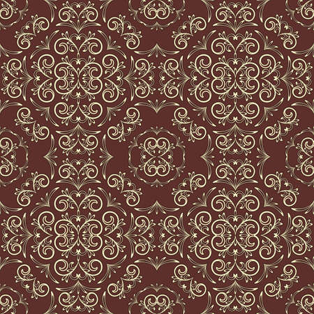 vintage seamless floral pattern, can be used as textile, fabric or wrapping paper Vector