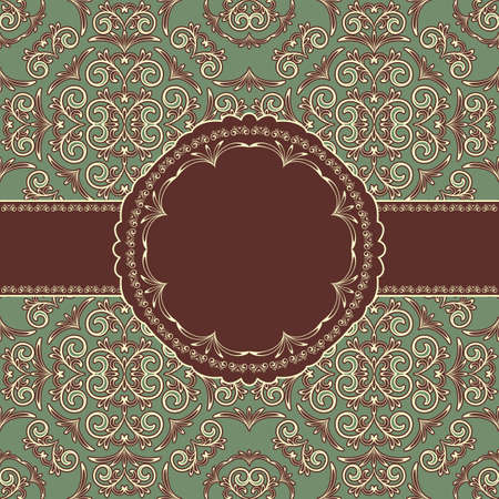 vector vintage seamless floral patternvector vintage seamless floral pattern with frame for your text Vector