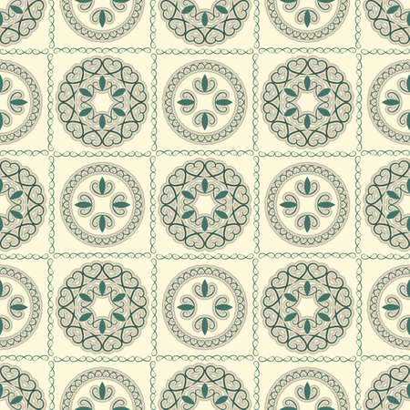 seamless bright pattern, oriental style, can be used as background, wrapping paper or wallpaper Vector