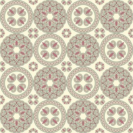 seamless pattern, oriental style, can be used as background, wrapping paper or wallpaper Vector