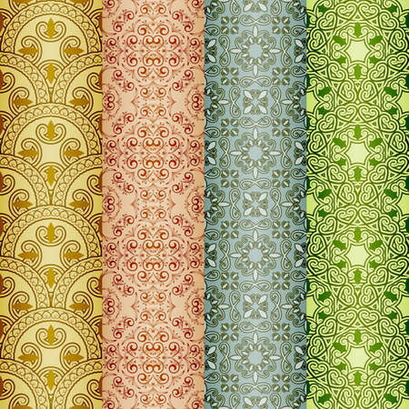 seamless pattern, oriental style, can be used as background, bookmarks, wrapping paper or wallpaper Vector
