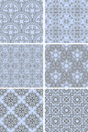 seamlesspettern in blue and brown, can be used as background, wrapping paper or wallpaper Vector