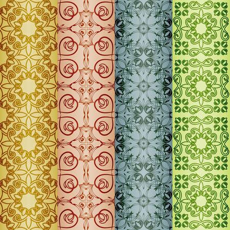 scrap gold: retro seamless patterns, oriental style, can be used as backgrounds, patterns, wrapping paper