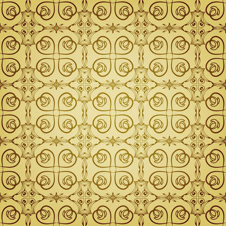 seamless floral golden pattern, can be used as backgrounds, patterns, wrapping paper Vector