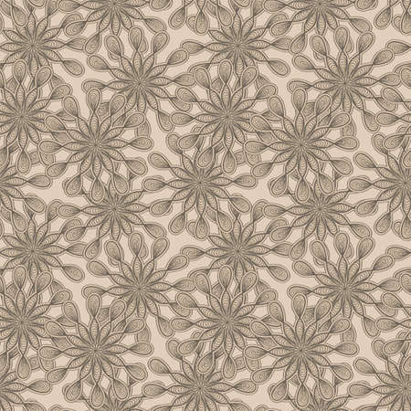 seamless floral  monochrome pattern with bizarre flowers Vector